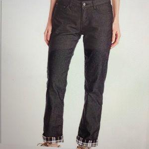 prAna Black W4BOYF313 Boyfriend Lined Jeans, Sz 4